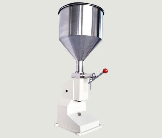 Small Manual Liquid Cosmetic Cream Paste Lotion Jar Filling Machine for Toothpaste, Shampoo, Body
