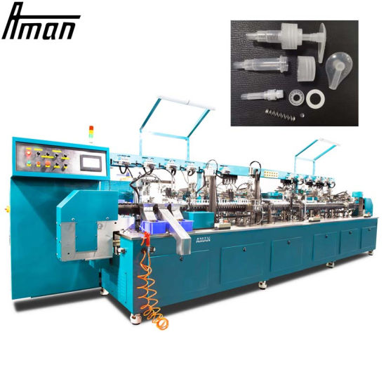 Dispenser Pump Lotion Pump Mist Sprayer Trigger Sprayer 28/410 Fully Automatic Assembly Machine Pipe Inserting Machine