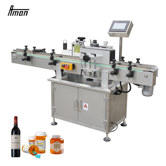 Actory Jar Round Bottle Labeling Machine Automatic Label Equipment Sticker Label Machine for Plastic Glass Bottle